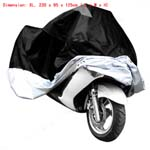 Black Motorcycle Motorbike Waterproof Cover Rain Protection Breathable XL Large