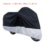 L Breathable Outdoor Motorcycle Cover For Large Size Cruisers Bike Rain Cover