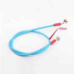 Blue High Performance Oil Line Brake Hose fit Universal Motorcycle