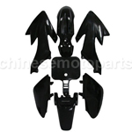 BLACK PLASTIC FENDER KIT FOR HONDA CRF XR XR50 CRF50 CLONE 125CC PIT DIRT BIKE