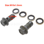 10mm Bolt Set of Disk Brake Assembly for 50cc-250cc ATV, Dirt Bike, Go Kart, Pocket Bike & Scoot