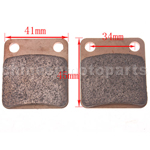 High Performace Brake Pad for 50cc-250cc ATV & Dirt Bike