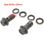 M10x1.25mm Bolt Set Of Disk Brake Assy For 50cc-250cc ATV Dirtbike Gokart Scooter Quad