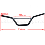 Black Handlebars for 50cc-125cc Dirt Bike