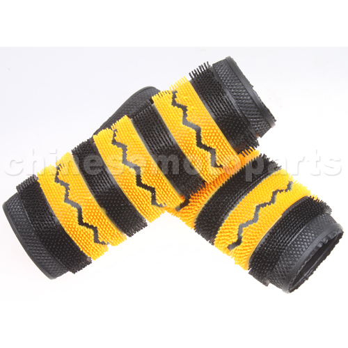 yellow handful wool glove for motorcycle  e033-089