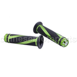 "Green 7/8"" Universal Motorcycle Handle Bar End Caps Gel Hand Grips Sports Bike"