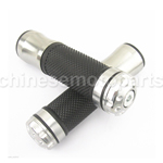 "Silver Universal Handlebar Soft Rubber Hand Grips 7/8"" (LEFT as same as RIGHT)"