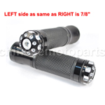 Black Rubber &Chrome Handlebar Hand Grips Bar for ATV