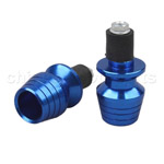 BLUE Bar End Plugs for HONDA CBR RR KAWASAKI ZZR ZX6R ZX636 SUZUKI GSXR