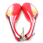 One Pair 8mm Rearview Mirrors for 50cc 70cc 90cc 110cc 125cc 150cc 250cc Scooters Moped Motorcyc