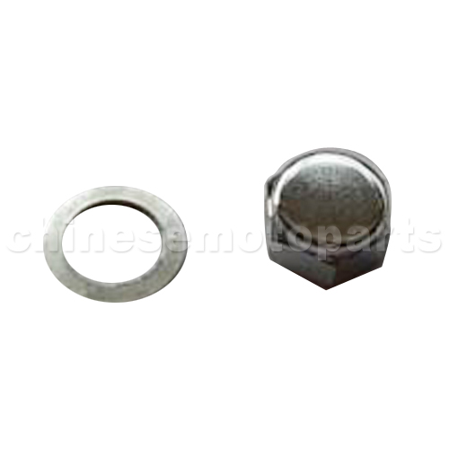 Light Pole Nut Covers: Steering Pole Cap Nut For Dirt Bike & Motorcycle [E037-003