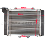 Medium Radiator for 200cc-250cc water-cooled ATV, Dirt Bike & Go Kart