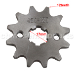 420 12-Tooth 17mm Engine Sprocket for 50cc-125cc ATV, Dirt Bike