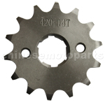 420 14-Tooth 20mm Engine Sprocket for 50cc-125cc ATV, Dirt Bike