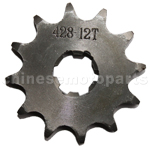 428 12-Tooth 17mm Engine Sprocket for 50cc-250cc ATV, Dirt Bike
