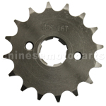428 16-Tooth 20mm Engine Sprocket for 50cc-250cc ATV, Dirt Bike