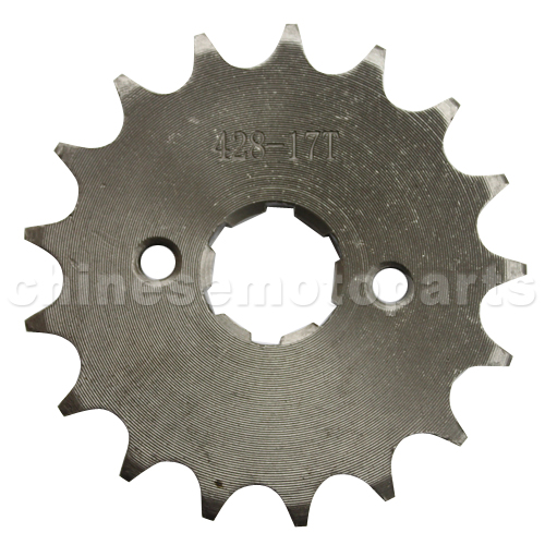428 17-Tooth 20mm Engine Sprocket for 50cc-250cc ATV, Dirt Bike