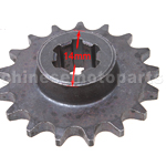 17 Tooth Small Sprocket for 2-stroke Pocket Bike