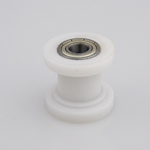 white 10mm pulley chain roller tensioner wheel guide motorcycle mx pit dirt bike