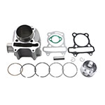 57.4mm Bore Cylinder Kit with Piston for 4 Stroke GY6 150cc ATV 157QMJ Engine