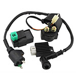 CDI Box Ignition Coil Solenoid Relay Voltage Regulator for 50cc 70cc 90cc 110cc 125cc ATV Dirt