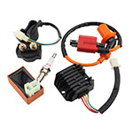 AC Racing Ignition Coil 6 Pin CDI Voltage Regulator Rectifier Solenoid Relay for CG 125cc 150cc