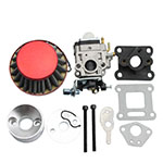 5mm Carburetor Rebuild Kit with Air Filter for 2 Stroke 47cc 49cc Mini ATV Quad Pocket Bike