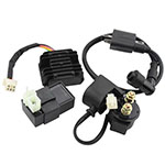 Ignition Coil AC CDI Voltage Regulator Rectifier Relay Kit for CG150cc 200cc 250cc Vertical Engi