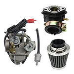 PD24J Carburetor with Air Filter Intake Manifold for GY6 125cc 150cc Go Kart Scooter 152QMI 157Q