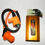 Scooter High Performance Ignition Coil & Performance Racing CDI GY6 50cc,150cc