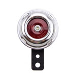 12V Brushed Chrome Universal Mini Horn for Motorcycles ATV Scooter