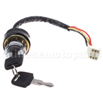 6 Wire Ignition Key Switch for Taotao Roketa Sunl Honda Kazuma Baja Pocket Mini Bike
