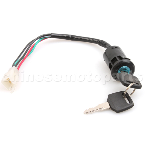 chinese atv quad 4 wire ignition key switch 49cc 50cc 70cc. Black Bedroom Furniture Sets. Home Design Ideas