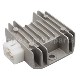 4-pin Silver Gray Voltage Regulator for CG 125cc-250cc ATV, Dirt Bike & Go Kart
