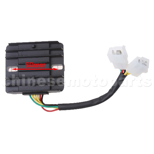 6 wire dc voltage regulator for 50cc 250cc scooter h055 017 9 55 parts