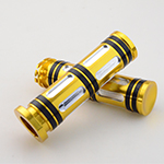 "Gold 1"" Hand Grips For Honda Magna250 750 Steed400 600 VLX400/600 Shadow 400 750 Yamaha Harley S"