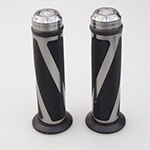 Black&Grey Universal Handlebar Grips Bar DIY Motorbike Handle Hand Bar Ends Aluminum Grips