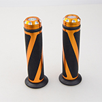 ZJMOTO Brand New Gold 7/8 Handlebar Motorcycle Grip Bar End Carbon For KTM 125 RC 390 690 DUKE 1