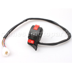 3-Function Left Switch Assembly with Choke Lever for ATV