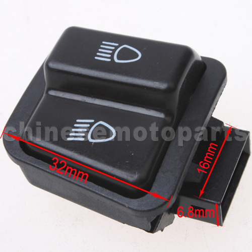 New GY6 Gas Scooter Light Switch Button 150cc 250cc Chinese Mopeds TaoTao Roketa