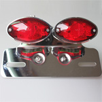 Motorcycle LED Lamp Turn signal Brake License Plate Cateye Tail