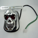New Universal Motorcycle fashional SKULL HEAD lights REAR TAIL light For HARLEY
