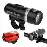 A1ST 5 LED Bicycle Mountain Bike Lamp Set Lights Front Rear Bike Lights