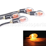 2 x 12V Amber Motorcycle Motorbike Turn Signal Light Indicator Lamp Universal