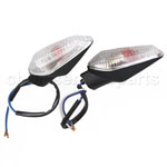 Clear Lens Chrome Front & Rear Turning Signal Light for DUCATI 696 796 STREEFIGHTER