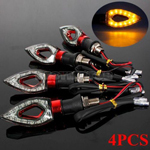 4x 12 SMD LED UNIVERSAL MOTORCYCLE/BIKE TURN SIGNAL INDICATOR LIGHT LAMP RED NEW