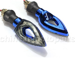 Blue+Transparent Universal Motorcycle Motorbike 12 SMD LED Turn Signal Light Bulb Indicator 12V