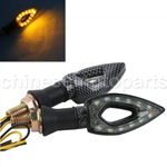 Hollow LED Turn Signal Light Blinker Winker Universal Motorcycle carbon fiberHollow LED Turn Sig