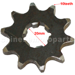 10-Teeth 20mm Front Sprocket for ATV, Dirt Bike & Go Kart