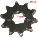 10-Teeth 17mm Front Sprocket for ATV, Dirt Bike & Go Kart